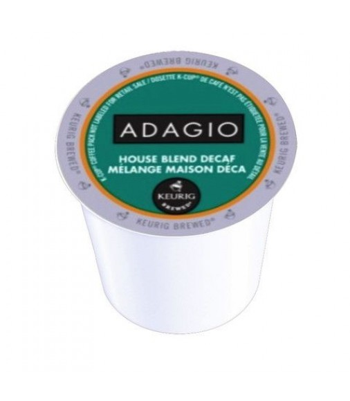 Adagio House Blend Decaf, Single Serve Coffee