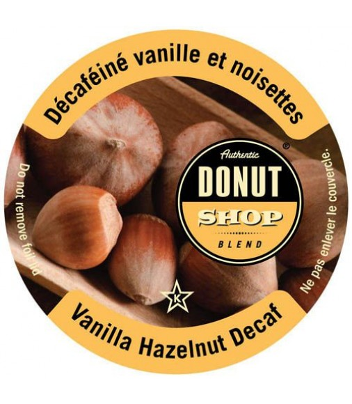 Authentic Donut Shop Vanilla Hazelnut Decaf Single Serve