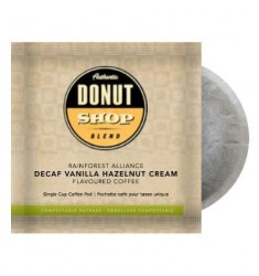 Authentic Donut Shop Blend Decaf Vanilla Hazelnut Cream, Pod Coffee