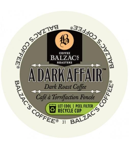 Balzac's A Dark Affair Single Serve Coffee