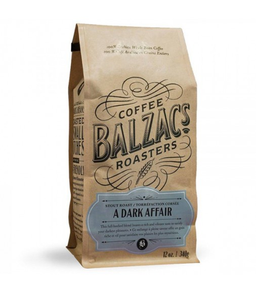 Balzac's A Dark Affair Whole Bean Coffee