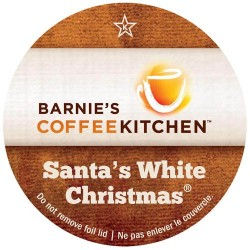 Barnie's Coffee Santa's White Christmas Coffee