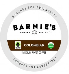 Barnie's Colombian Organic Coffee Single Serve Coffee