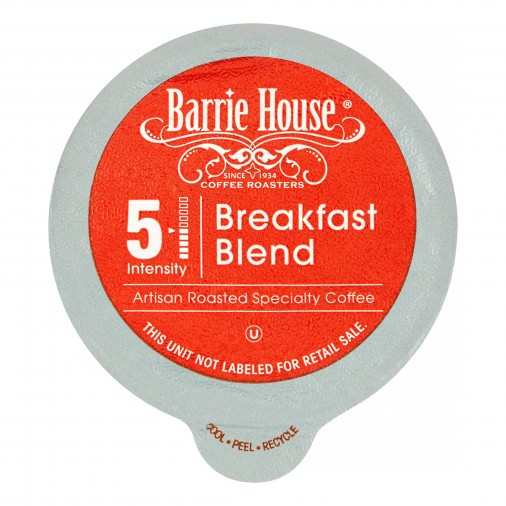 Barrie House Breakfast Blend Single Serve Coffee