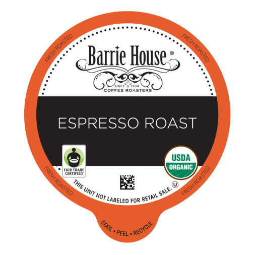 Barrie House Espresso Blend Single Serve Coffee