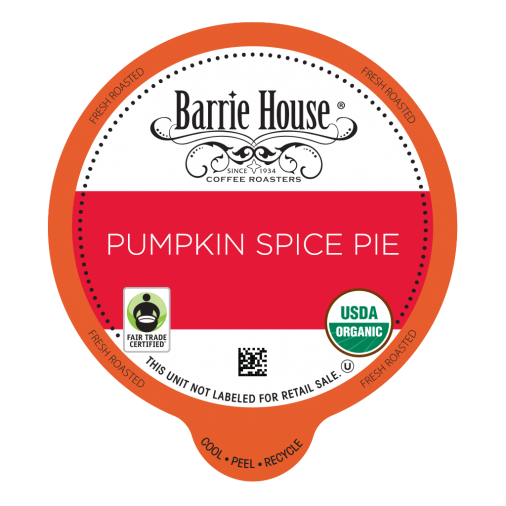 Barrie House Pumpkin Spice Pie Single Serve Coffee