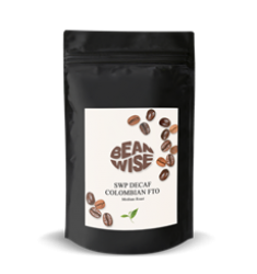 Beanwise Colombian FTO Decaf Coffee Beans (8oz)