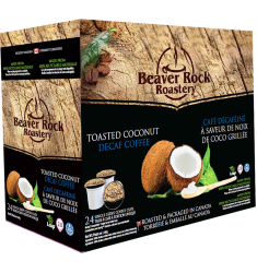 Beaver Rock Toasted Coconut Decaf Single Serve Coffee
