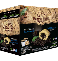 Beaver Rock Dark Roast Decaf Single Serve Coffee