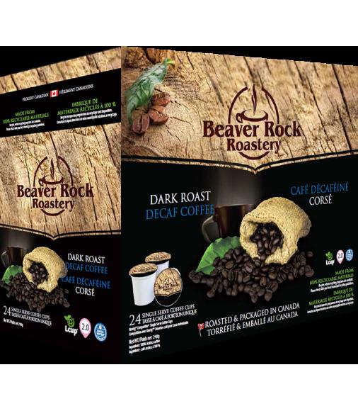 Beaver Rock Dark Roast Decaf Single Serve Coffee