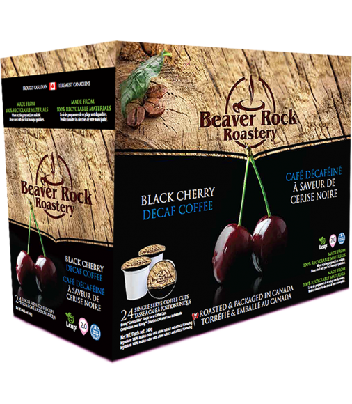 Beaver Rock Black Cherry Decaf Single Serve Coffee