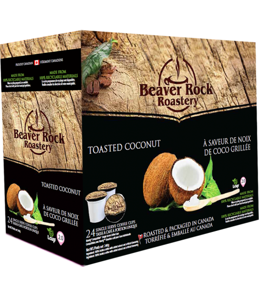 Beaver Rock Toasted Coconut Single Serve Coffee