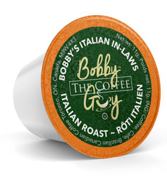 Bobby's Italian Roast Single Serve Coffee