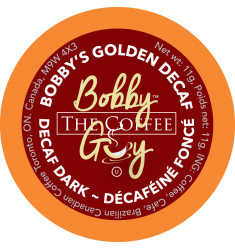 Bobby's Golden Decaf Dark, Single Serve Coffee