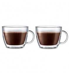 Bodum Bistro Double Wall Latte Mug 15.2oz (2 Pcs)