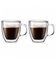 Bodum Bistro Double Wall Mug 10oz, Set of 2