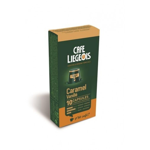 Cafe Liegeois Caramel Vanille 10 Capsules for Nespresso