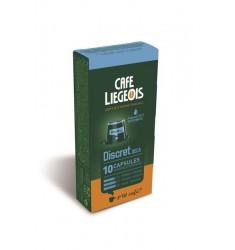 Cafe Liegeois Discret Decaf 10 Capsules for Nespresso