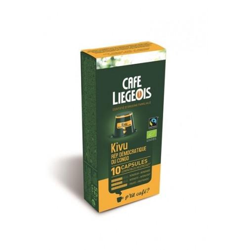 Cafe Liegeois Kivu 10 Capsules for Nespresso