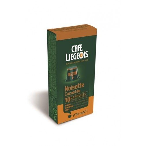 Cafe Liegeois Noisette Cacaotee  10 Capsules for Nespresso