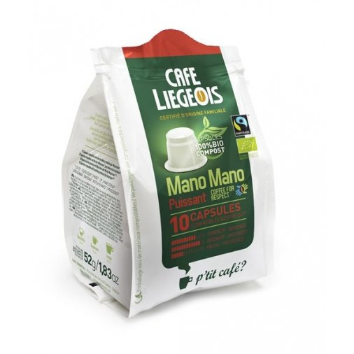 Cafe Liegeois Puissant Bio-Compostable 10 Capsules for Nespresso