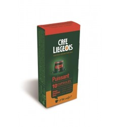 Cafe Liegeois Puissant 10 Capsules for Nespresso