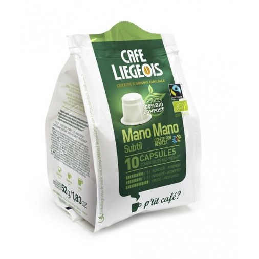 Cafe Liegeois Subtil Bio-Compostable 10 Capsules for Nespresso