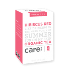Care Tea Hibiscus Red Organic Tea Bags