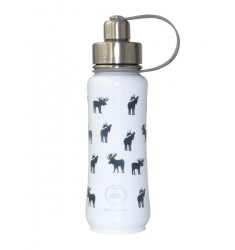Green's Your Colour, Triple Insulated Bottle, Moosed Up! White