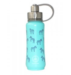Green's Your Colour, Triple Insulated Bottle, Zippy Zebra, Teal -500ml