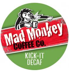 Mad Monkey Kick It Decaf Coffee - 48 c