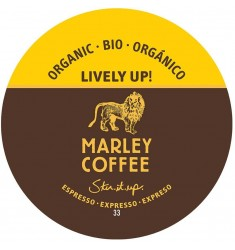 Marley Coffee Lively Up, Espresso Dark, Organic Coffee