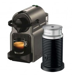 Nespresso Inissia with Aerocinno 3 Milk Frother (Titan Grey)
