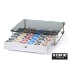 Nifty Rolling K-cup Drawer With Glass Top