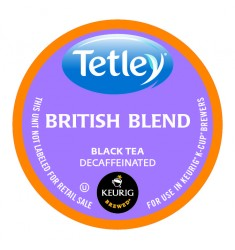 Tetley British Blend Decaf Tea, Single Serve