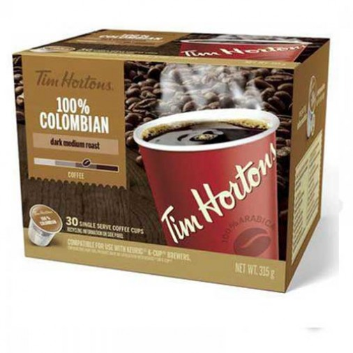 Tim Hortons 100% Colombian Coffee (30 Cups)