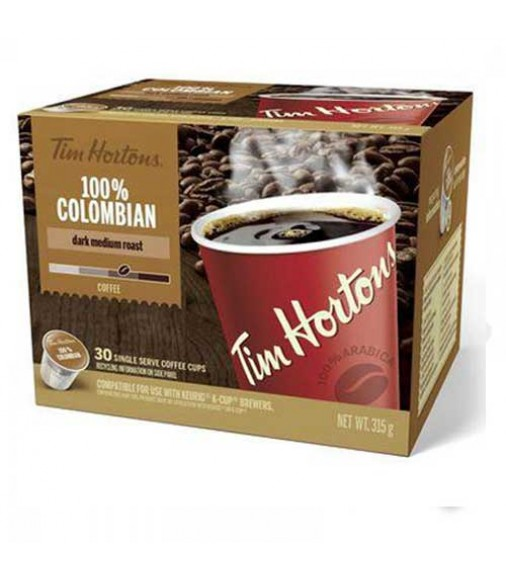 Tim Hortons 100% Colombian Coffee 30 cups