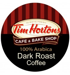 Tim Hortons Dark Roast, Single Serve Coffee