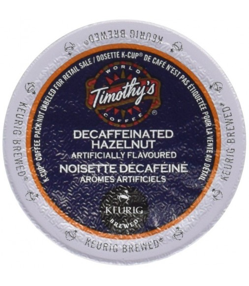 Timothy's Hazelnut Decaf Coffee