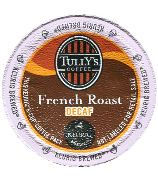 Tully's French Roast Decaf Extra Bold Coffee (96 Cups)