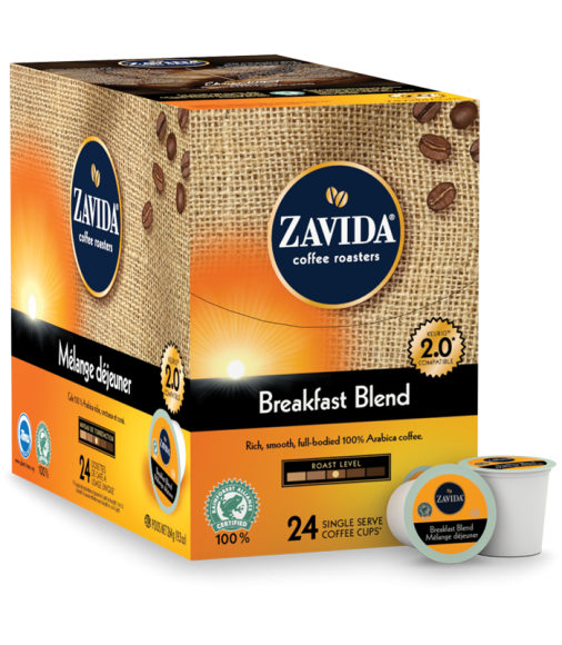 Zavida Breakfast Blend, Single Serve Coffee