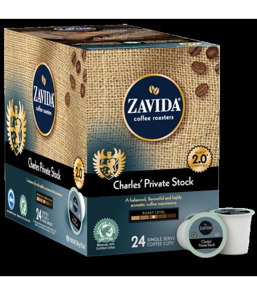 Zavida Charles' Private Stock, Single Serve Coffee