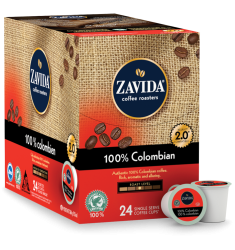 Zavida 100% Colombian, Single Serve Coffee