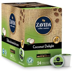 Zavida Coconut Delight, Single Serve Coffee