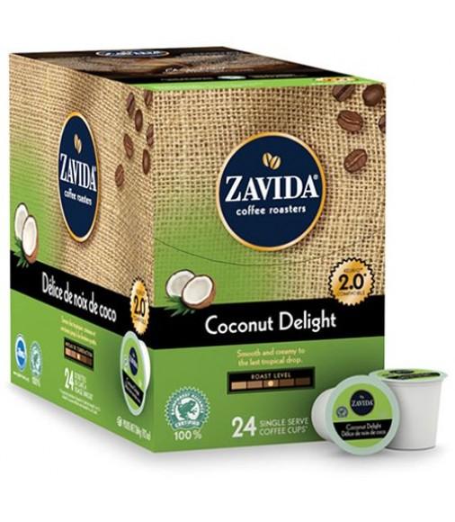 Zavida Coconut Delight, Single Serve Coffee