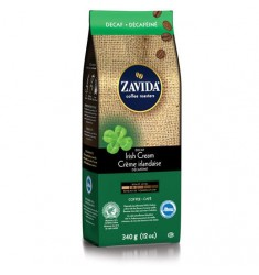 Zavida 12oz Irish Cream Decaf Whole Beans