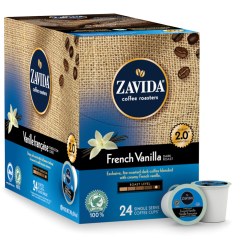 Zavida French Vanilla Dark Single Serve Coffee