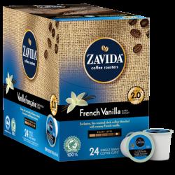 Zavida French Vanilla Dark Single Serve Coffee