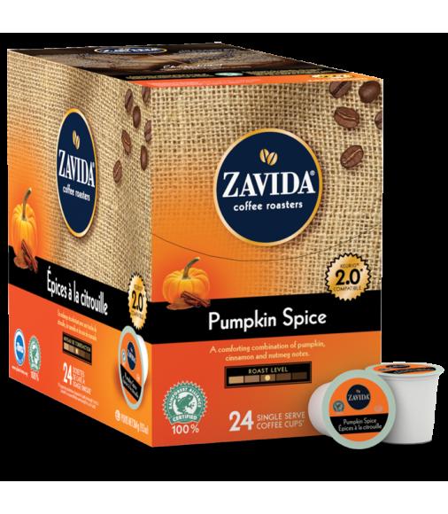 Zavida Pumpkin Spice Single Serve Coffee